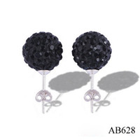 Wholesale New Bling Jewelry mm Dazzling Colorful Disco Crystal Beads Shamballa Studs Earrings pairs Hot
