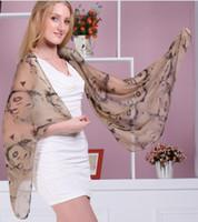 Wholesale The beautiful head Mrs wild chiffon thin scarf shawl