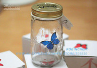 Glass best holiday wishes - Valentine s gift wishing bottle Simulation Butterfly Electronic Butterfly best gift for holiday