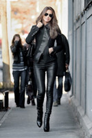 Spandex High Fashion WOMENS Sexy Wet Leather LOOK Matt Black HIGH WAISTED Stretchy Tight LEGGINGS Pants S M L XL 2XL