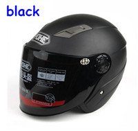 Open Face ABS Helmet motorcycle helmet half helmet electric car autumn helmet winter helmet Knight Helmet black-1 T0002