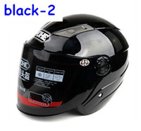 Open Face ABS Helmet motorcycle helmet half helmet electric car autumn helmet winter helmet black-2 T0002