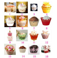 Wholesale Paper Cupcake Wrapper Optional Cupcake Wrappers Wraps Lines For Wedding Party Baby Showers