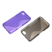 Wholesale S Line Wave Gel Case Cover for BlackBerry Z10 BB case mix color