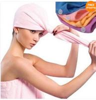 Wholesale 40pcs cm Microfiber Bath Towel Absorbent Magic Quick Dry Hair Drying Dry hair hat