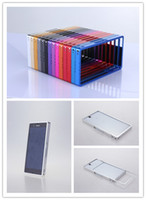 For Samsung   For Sony Xperia Z L36H L36I L36a New Aluminum Alloy metal bumper frame case mix 10pcs lot package