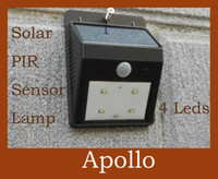 Wholesale PIR Solar Sensor Light LED Infrared Ray Induction Motion Wall Lamp Waterproof Street Corridor