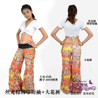 Women Belly Dancing Chiffon The new tribal style belly dance clothing belly dancing costumes women wear practice pants+top flow