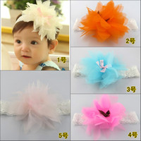 Wholesale 10pcs Lovely baby big flower headbands lace band FS