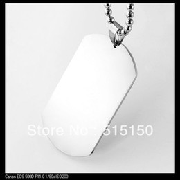 Wholesale&Retail Fashion Pendant Jewelry 316L stainless steel Military Dog Tags, Silver Pendant Necklace