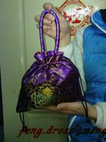 Wholesale 45 HOT China Silk Women Lady Evening Totes Purses Wedding Bridal Tote Bags Girls Gift Handbag