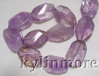 Crystal ametrine crystal - 8SE08167a x35mm Ametrine Faceted Nugget Beads quot