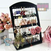 Wholesale Black Earring Displays Stand holder hole plastic Jewelry organizer cheap Acrylic Earrings showcase