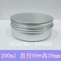 Wholesale ml Aluminum Container g Cream Jar Metal Round Tin Cosmetic Packaging pomade Can wax bottle