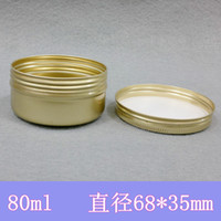 Christmas tin cans - Golden Aluminum Container g Candle Holder Aluminum Jar ml Cream Cans Round Tin
