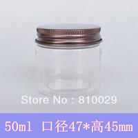 Wholesale g Bronze Suntanned Aluminum Cap Cream Jar ml Electroplate Aluminum Bottle cosmetic Bath Salts jars