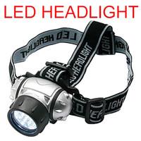 Wholesale 19 LED Bright Waterproof Headlamps Head Light Flashlight Headlight Light Torch Modes