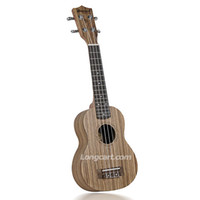 Wholesale New Fashion Hot Inch High Quality Laminated Zebra wood soprano ukulele with Italian Aquila string