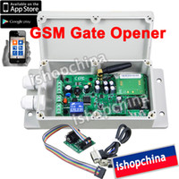 Wholesale GSM Gate Door Opener Operator Remote Control Relay Output Switch SUPPORT APP CONTROL ADC By Post