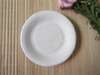 Disposable dinner plate - HOT White quot Paper Cupcake Tray Cake Tray Plates Dinner Plate Cake Cup Candy Cake Case