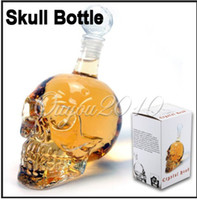 Wholesale Crystal Head Vodka Skull Face Bone Glass Bottle Decanter Empty Bar Line ml