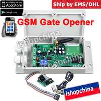 Wholesale GSM Gate Door Opener Operator Remote Control Relay Output Switch Control by APP ADC By DHL EMS
