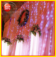 Wholesale Wedding Decorations LED light m m Curtain Lights Christmas romantic Wedding lighting Flash
