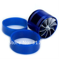 Cheap Aluminum alloy and rubber Turbo Dual Fan Best Approx. 2 x 2.5 inch Blue Supercharger