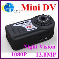 Black Less than 5.0MP Fixed Focus Mini dv mini camera 12.0MP DV Real 1080P IR Night Vision Camcorder portable handheld DV