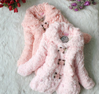 Wholesale Winter Y Children Cotton Coat Children Clothing Kid Girl Outwear Girl buttercup flower Warm Coat Wh2