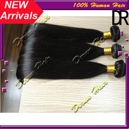 Wholesale Hot Sale Mix inches Brazilian Virgin Human Weave Hair Weft Silky Straight Natural Color Derun Hair Extensions