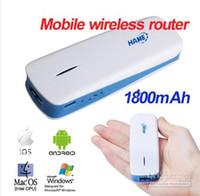 Wholesale 5 in G Mobile Wireless Router Broadband Power WiFi Hotspot Power Bank mAh