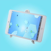 Wholesale New Adjustable Aluminum Metal Compass Mobile Stand holder Support for iPad2 Tablet PC laptop