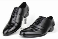 Wholesale 2015 Low Price Hot Sell New Style Black PU Leather Men s Shoes Dress Shoes Porm shoes A004