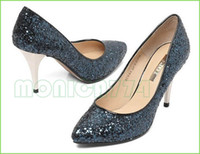 Women belle shoes - NEW ARRIVAL BELLE Sexy Lady Shiny Sequin shoes CM Lady party Dress Shoes Women Bling high heels