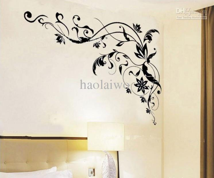 brand new christmas gift living room stickers black flower cane wall art space wall stickers spiderman wall stickers from haolaiwo 84035 dhgatecom - Wall Art Designer