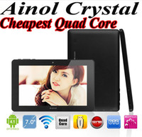 Wholesale Cheapest Ainol Novo Crystal Quad Core Tablet Inch android GB ROM G RAM Tablet PC x600