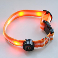 Wholesale Mix order Colors LED Dog Pet colorful Light Flashing Safety Collar Utop2012