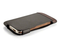 Wholesale RONIN Nickel Ziricote Wood w Leather Aluminum frame Bumper Case for iphone G