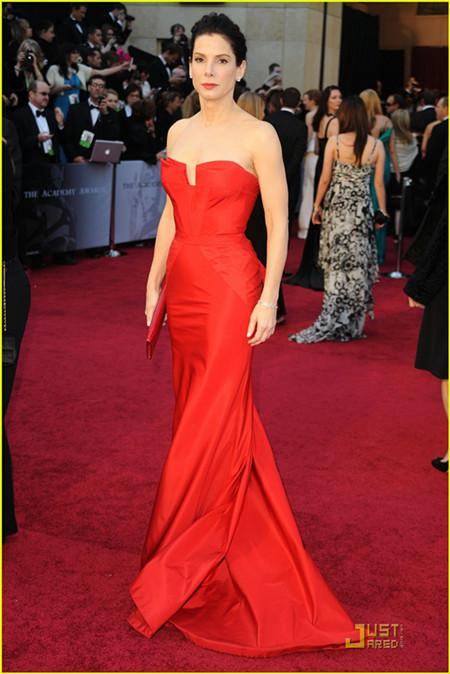 Celebrity Dresses Evening Gown Sandra Bullock Oscars 2011 Red ...