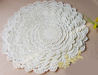Wholesale Paper Doily Embossed quot Optional Round Paper Doilies Pad Of Lace Paper Cake Paper FREE BY EMS