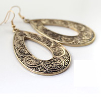 Wholesale Vintage Bronze Drop Earrings Fashion Jewelry sculpture pairs Factory Price