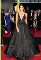 Wholesale Celebrity Dresses Camila Alves Oscar V Neck Red Carpet Evening Ball Gown