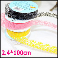 Wholesale 40pcs mm Width Lace Tape Transparent Sticker Printed Tape Office Adhesive Tape Washi Tape