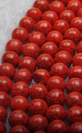 Wholesale ~ 100 pcs 10 mm Red turquoise loose beads semi-finished beads DIY beaded materials   jewel