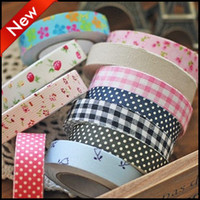 Wholesale 40PCS Japanese Washi Paper Masking Tape Masking Creative Stationery DIY Stickers Colorful Sticky