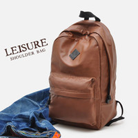 absolutely animals - Hot sales LEISURE Soft PU leather touch Absolutely excellent Storage bag Backpacks YW093 FREE SHIPPI