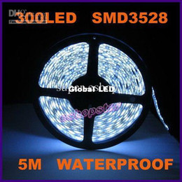 5M 3528 SMD Waterproof LED Strip Lights 300 leds Cool White Flexible DIY Chrismas Decoration