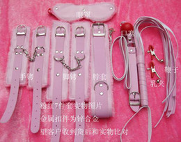 2017 fouets bouche gags menotte rose wistiti Fouet eyeshade bouche gag collier 7-in-1 bondage set sm jeu adulte hhfdd jouets fouets bouche gags ventes