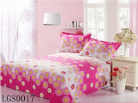 Wholesale Hotselling MultiColor Printed Floral Stripe Grid Bedding Set Bedding Sheet Bedspread